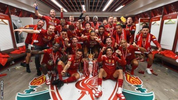 Liverpool celebrate Premier League success