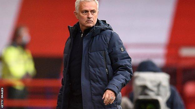 Jose Mourinho on the touchline