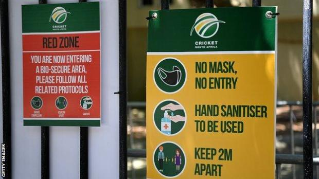Information signs at Newlands