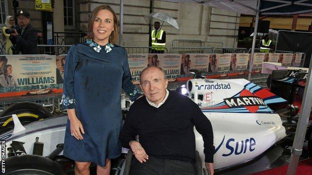 sport Claire Williams and Sir Frank Williams