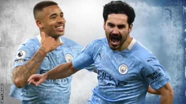 Manchester City have won a third Premier League title in four seasons under Pep Guardiola
