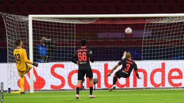 Fabinho makes goalline clearance
