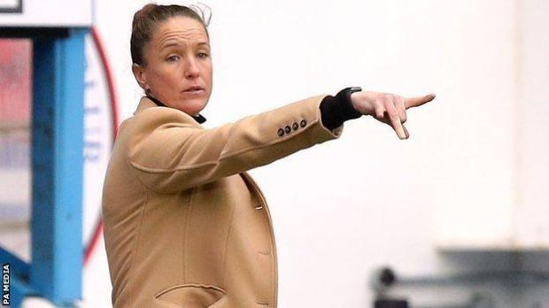 Casey Stoney, manager of Manchester United's women