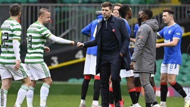 Rangers manager Steven Gerrard at Celtic Park