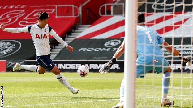Son Heung-min scores for Tottenham