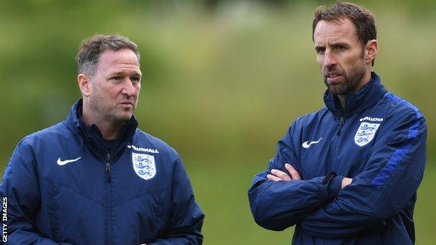 Steve Holland and Gareth Southgate
