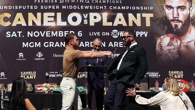 , Alvarez and Plant trade blows as they promote unification bout, The Evepost BBC News