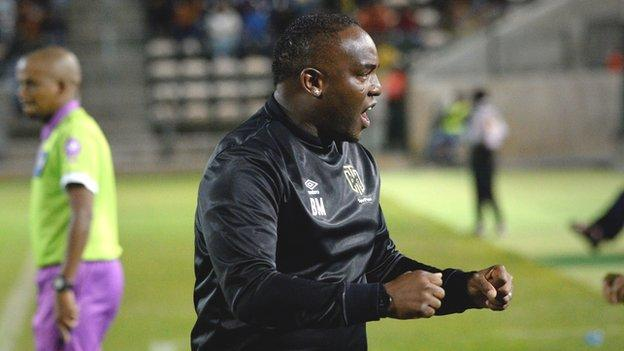 Benni McCarthy during his time as coach of Cape Town City