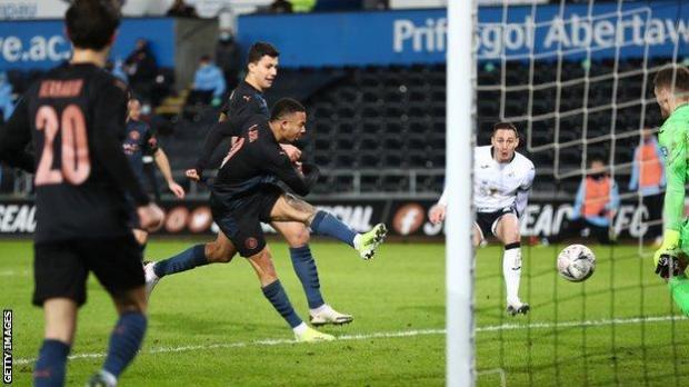 Gabriel Jesus scored his eighth goal of the season from close range