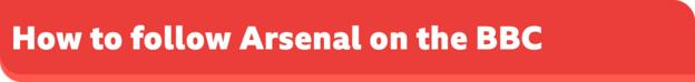 How to follow Arsenal on the BBC banner