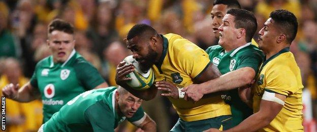 Marika Koroibete's try set up a dramatic final quarter at the Sydney Football Stadium