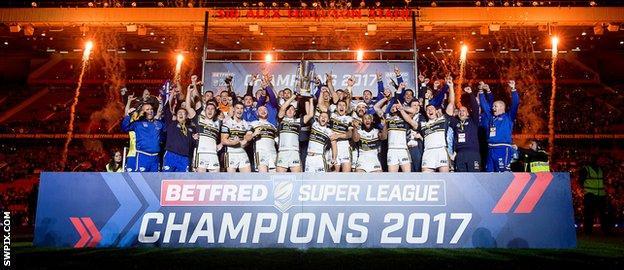 Super League's champions Leeds