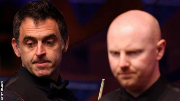 Ronnie O'Sullivan (left) and Anthony McGill