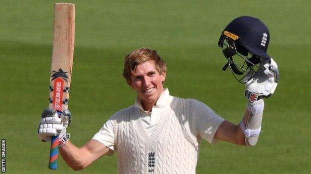 England's Zak Crawley celebrates his 267 against Pakistan at the Ageas Bowl
