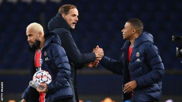 Thomas Tuchel and Kylian Mbappe