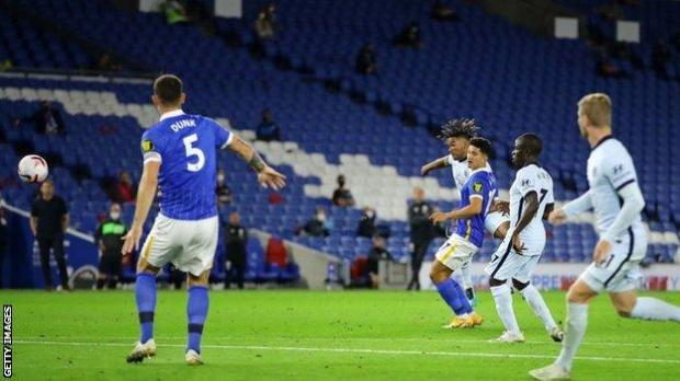 Reece James scores for Chelsea
