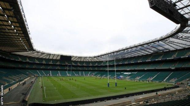 General view of an England training session at Twickenham