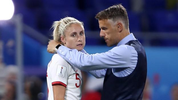 England v USA: Phil Neville says 'hearts and souls left on the pitch' 1