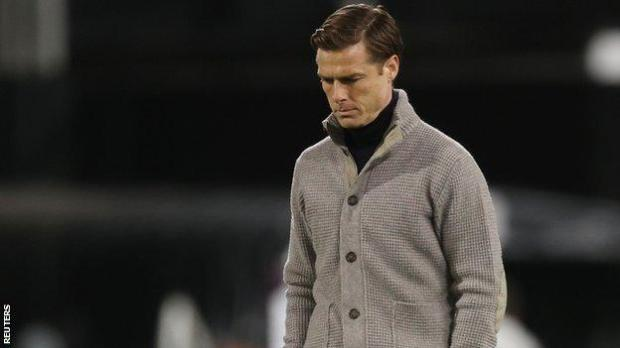 Scott Parker looks dejected as Fulham are relegated from the Premier League