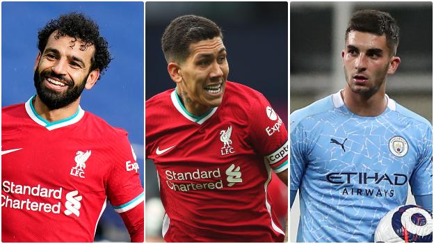 Mohamed Salah (Liverpool), Roberto Firmino (Liverpool), Ferran Torres (Manchester City)