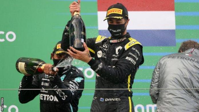 Daniel Ricciardo gave Renault their first podium since the Mayalsian Grand Prix in 2011
