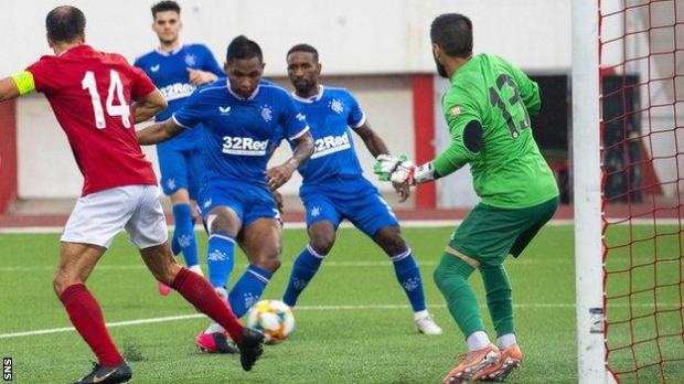 Alfredo Morelos scores