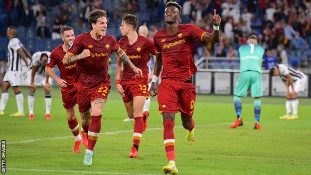 , Roma 1-0 Udinese: Tammy Abraham scores winner for Jose Mourinho's side, The Evepost BBC News