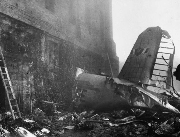 The aftermath of the Superga air disaster