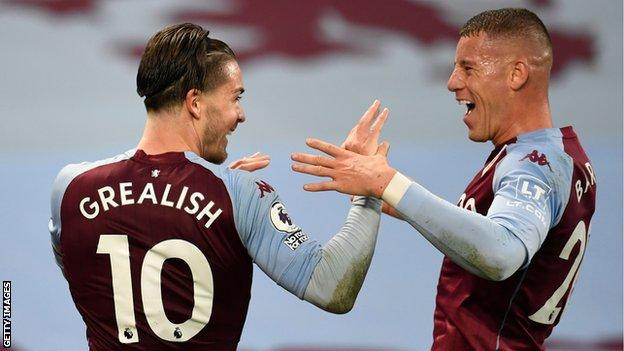 Jack Grealish and former Everton midfielder Ross Barkley were among the scorers