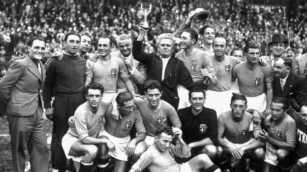 Italy with the 1938 World Cup