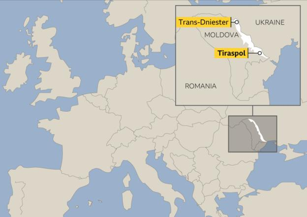 Map showing location of Trans-Dniester