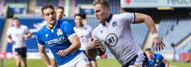 Van der Merwe scored his fifth and sixth tries in nine Test appearances for Scotland