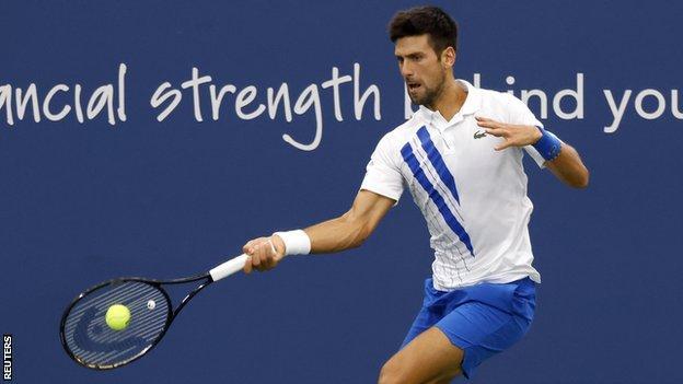 Novak Djokovic in the final of the Western & Southern Open