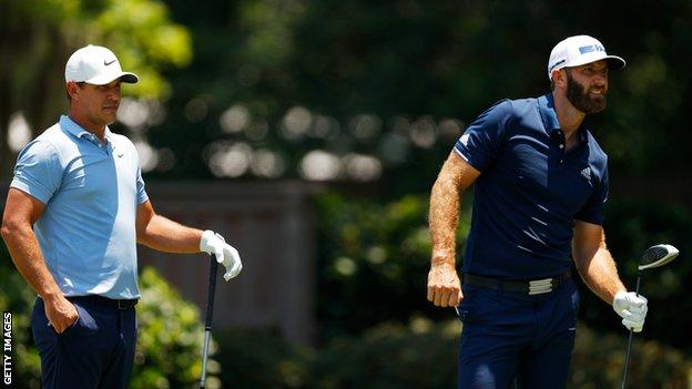 Brooks Koepka won four majors with Dustin Johnson's lone US Open victory in 2016