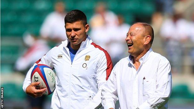 Ben Youngs and Eddie Jones
