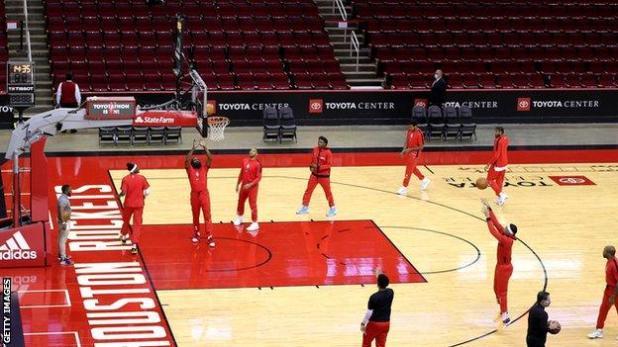 Houston Rockets train