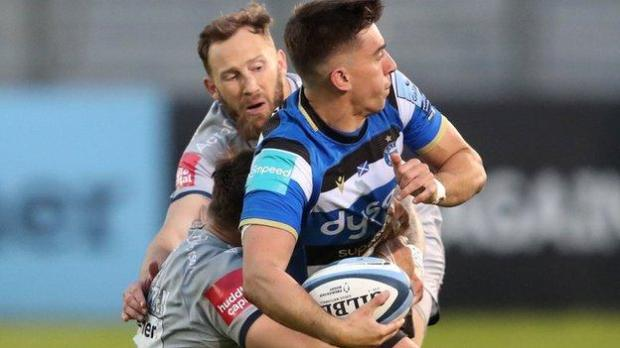 Sale's Byron McGuigan and Bath's Cameron Redpath were both among the try scorers at The Rec
