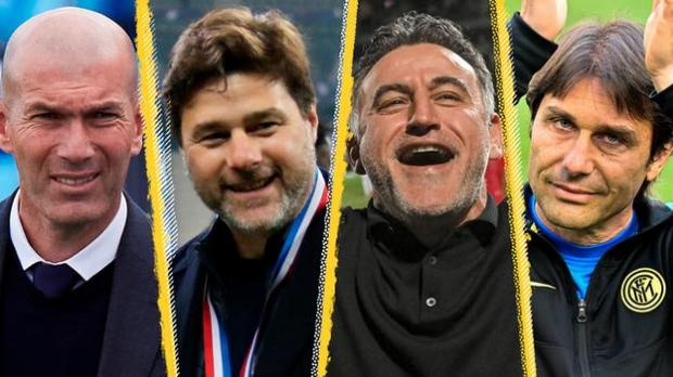 Zinedine Zidane, Mauricio Pochettino, Christophe Galtier, Antonio Conte