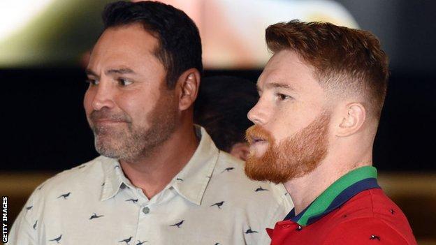 sport Oscar de la Hoya and Saul 'Canelo' Alvare