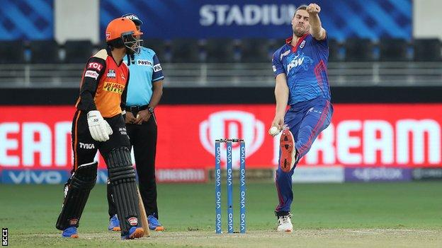 , IPL: Delhi Capitals beat Sunrisers Hyderabad by eight wickets to go top, The Evepost BBC News