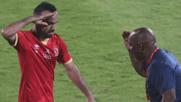 Mohamed Sherif opened the scoring to help Al Ahly coach Pitso Mosimane win a third Champions League
