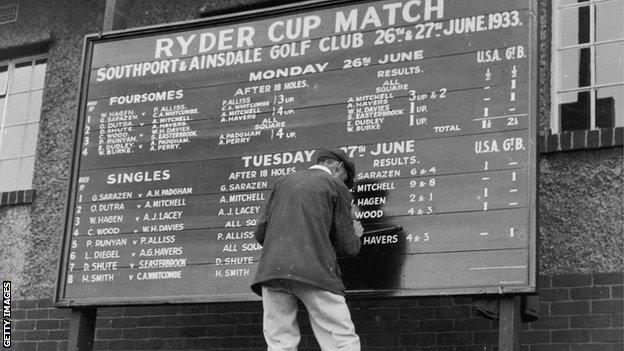 foot ball Ryder Cup in 1933
