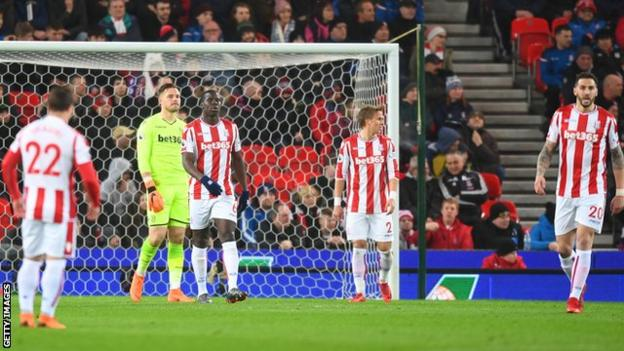 Stoke looking dejected
