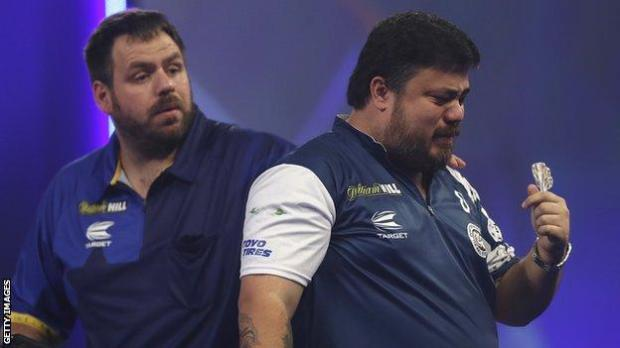 Adrian Lewis (left) with Danny Baggish (right)