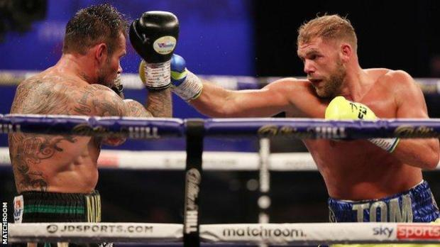 Saunders and Murray were both fighting for the first time since November 2019