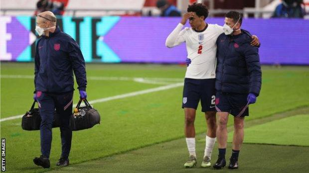 Trent Alexander-Arnold limps off for England against Austria