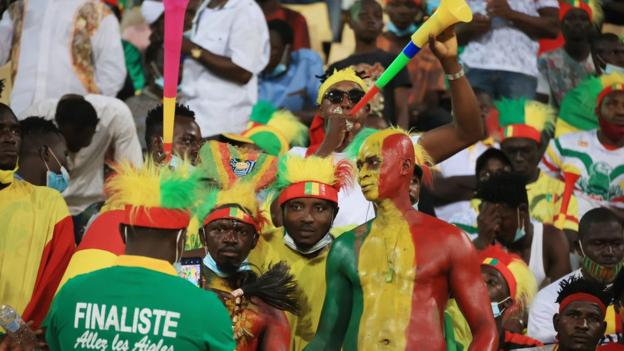 Mali fans at the CHAN in Cameroon