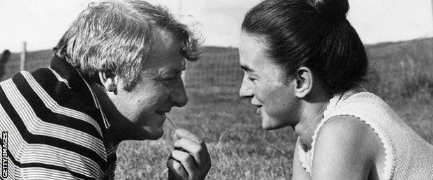 Tommy Docherty and Mary Brown
