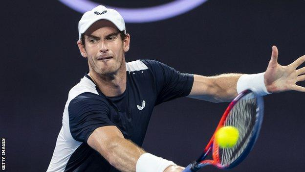 Andy Murray playing at the 2019 Australian Open
