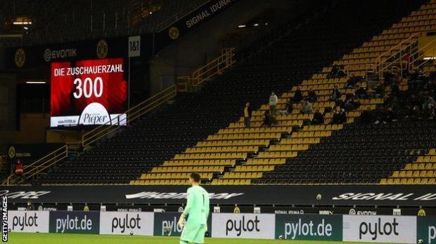 Fans at Borussia Dortmund